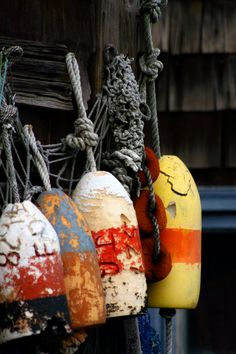Items similar to old buoys black and white on Etsy Wabi Sabi, Deco Marine, Fishing Villages, Beach Scenes, Beach House Decor, New England, Creations, Black And White, Holiday Decor