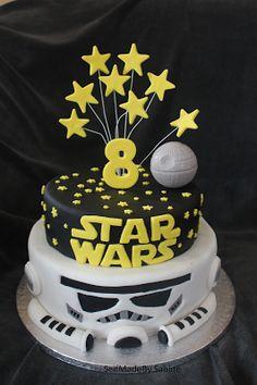 SelfMadeby Sabine: Star Wars Geburtstagstorte