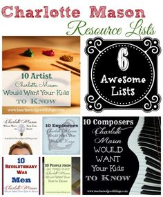 6 Awesome Charlotte Mason Resource Lists. You're going to want to come back to these!