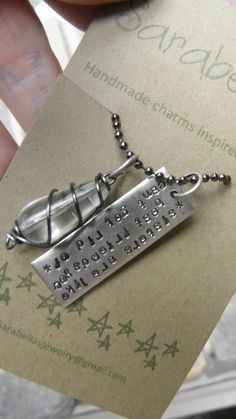 Sister quote necklace. $15.00, via Etsy.