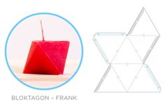Geometric Downloadables for Concrete Vases, Coat Hooks and Candle Moulds - Image Frank