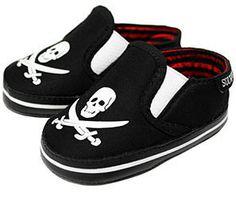 Sourpuss Skull Slip on Baby Shoes