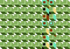 Almofada retangular Verde e outras do Studio Matheusfurtadodesenhista por R$55,00