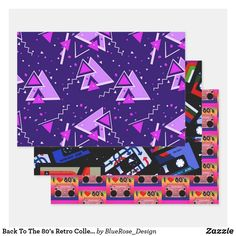 Back To The 80's Retro Collection Wrapping Paper Sheets