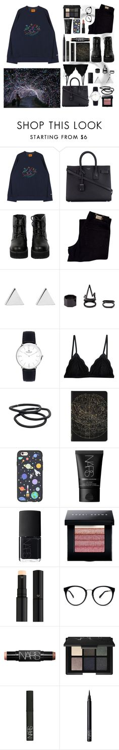 """""""Pain makes people change."""" by angie-5soslm ❤ liked on Polyvore featuring Holga, Yves Saint Laurent, The WhitePepper, HUGO, Jennifer Meyer Jewelry, Charlotte Russe, Cosabella, Goody, Casetify and NARS Cosmetics"""