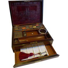 Antique English Artist's Watercolour Box - J. Newman's - c.1830