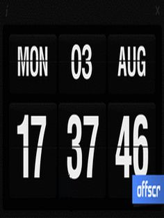 Flip Clock Touch For Symbian Phones V Mobile Software Flip Clock, Flipping, Software, Phones, Calendar, Touch, Display, Free, Floor Space
