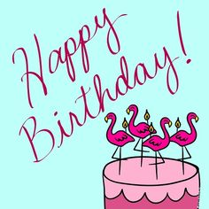 Who wouldn't love a flamingo birthday cake? Free online Birthday Flamingos ecards on Birthday Happy Birthday For Her, Happy Birthday Posters, Happy Birthday Quotes, Happy Birthday Greetings, Birthday Board, Boy Birthday, Birthday Wishes, Birthday Stuff, Birthday Celebration