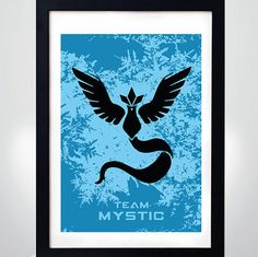 POKEMON GO Team MYSTIC   Wall Art Print  Poster by MixPosters