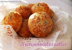 mısır unlu kıyır poğaça Turkish Recipes, Asian Recipes, Ethnic Recipes, Savory Pastry, Crescent Rolls, Cake Recipes, Biscuits, Muffins, Gluten Free