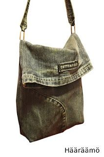 Cute idea ... don't usually like stuff made out of old jeans, but I just might do this one.   :) - oversized black clutch bag, bags online buy, ladies bag leather *sponsored https://www.pinterest.com/bags_bag/ https://www.pinterest.com/explore/bags/ https://www.pinterest.com/bags_bag/radley-bags/ https://www.tradesy.com/bags/