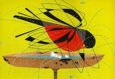 I love the way Charley Harper indicates wing movements.