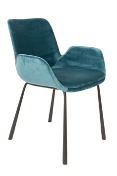 Buy the Zuiver Pair of Velvet Look Brit Upholstered Armchair in Petrol today! FREE Delivery and a Price Match Guarantee. Dining Room Furniture, Dining Chairs, Dining Area, Upholstered Arm Chair, Upholstery, Cushions, Velvet, Home Decor, Bleu Rose