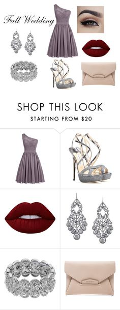 """Wedding"" by ava123-321 on Polyvore featuring Jimmy Choo, Lime Crime, 1928 and Givenchy"