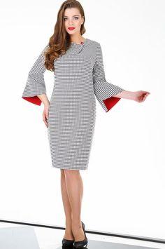 Платье LaKona, тёмно-синий с белым (модель 991) — Белорусский трикотаж в интернет-магазине «Швейная традиция»