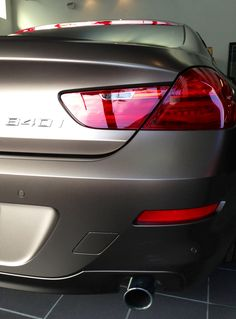 2013 BMW 6 Series Gran Coupe with special matte paint