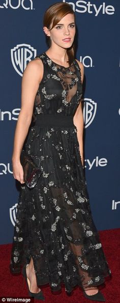 Pale and interesting: Both Emma Watson and Taylor Swift complemented their pale skin with black dresses