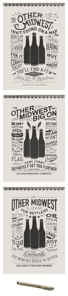 Sketches Posters (Upland beer) by BMD Design