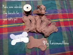 Karen mom of three's craft blog: Make your doll's pet some adorable Dog biscuits!