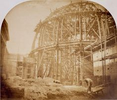 British Museum @British Museum:  Construction of the iconic Round Reading Room in 1855, designed by Sydney Smirke, and opened in 1857 #BehindTheArt