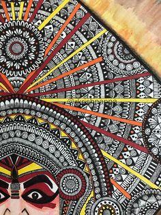 Yakshagana dancer face art print image 4 Mandala Design, Mandala Art, Print Image, Indian Wall Art, Fine Art Prints, Canvas Prints, Face Sketch, Art Drawings Sketches, Easy Drawings