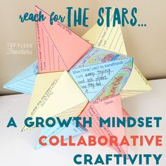 Top Floor Teachers: Reach for the Stars! - Growth Mindset Collaborative Craftivity