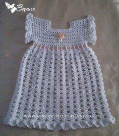 Крестильное платье для девочки, связанное крючком. http://www.liveinternet.ru/tags/%EA%F0%E5%F1%F2%E8%EB%FC%ED%EE%E5/page3.html