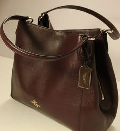 Nwt Coach E Refined Pebbled Leather Oxblood 36464 Satchel Shoulder Handbag