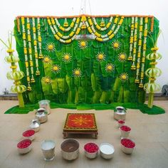We provide all kinds of decorations including Mangala Snanam setups from water to flower decorations. Wedding Backdrop Design, Desi Wedding Decor, Wedding Hall Decorations, Wedding Mandap, Backdrop Decorations, Flower Decorations, Engagement Decorations, Reception Backdrop, Diwali Decorations