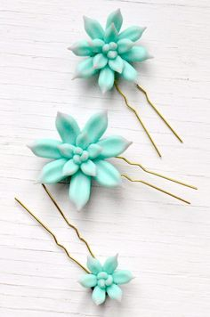 Succulent Hair Pins - Set of 3