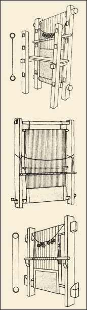 Вертикальный ткацкий станок