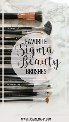 List of my favorite Sigma Beauty brushes + what each one is used for. #sigmabeauty #makeupbrushes #beauty