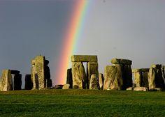 Stonehenge and the rainbow