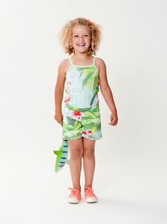 ss15: Room Seven's tropical print romper for the playful spirit. www.room7usa.com