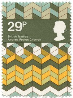 british textiles stamp - andrew foster