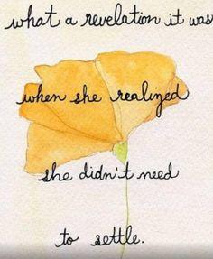 What a revelation ... #settling