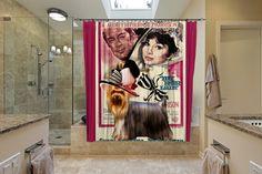 Yorkshire Terrier Art Shower Curtain Dog Shower by NobilityDogs Woman Movie, Dog Shower, My Fair Lady, Yorkshire Terrier, Curtains, Dogs, Etsy, Vintage, Art