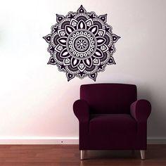 Mandala Wall Decal Flower Mandala Vinyl Sticker by CozyDecal