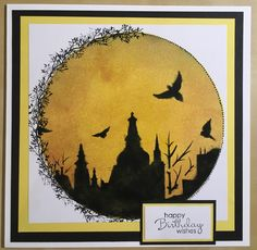 Handmade card by Marie. Made using Tim Holtz distress inks, Card-io stamps, Sheena Douglas stencil and Stampin' up sentiment stamp