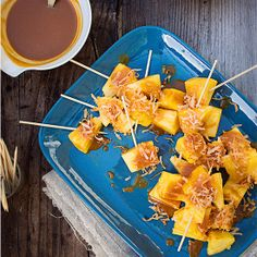 Grilled Pineapple Skewers with Coconut-Caramel Sauce
