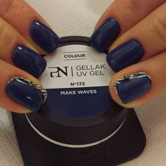 #makewaves #pronailsitalia #pronails #nailart #nailartwork #gelnailart #bluejeans by eclissi_monselice
