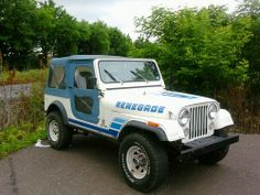 Jeep CJ-7 Renegade.... Like the paint job, but different colors and all matte.