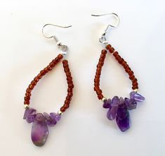 Excited to share the latest addition to my #etsy shop: #Amethyst #earrings, #Gemstoneearrings, #Purplestoneearrings, #gemstone, #dropearrings, #teardropearrings, #Native, #AmericanIndianearrings