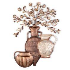 Bronze Floral Urns Metal Wall Art | Kirkland's