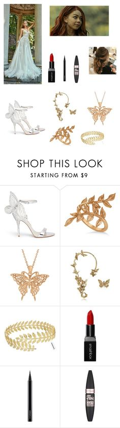 """""""The Mortal Instruments Weddings #3: Faerie"""" by stroshow ❤ liked on Polyvore featuring beauty, Sophia Webster, Allurez, Bernard Delettrez, Smashbox, MAC Cosmetics and Maybelline"""