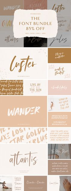 Logo Design Inspiration Discover The Font Bundle OFF by Wilde Mae Studio Web Design, Logo Design, Branding Design, Graphic Design, Feminine Fonts, Stylish Fonts, Signature Fonts, Brush Font, Paper Texture