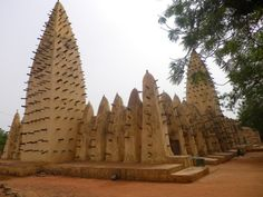 Africa |  Mosque in Burkina Faso I have been visiting this mosque 2 times, this place is amazing thanks to his roof where people pray. What a view !