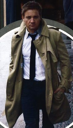 That coat. That tie. That smouldering look. Oh Renner.