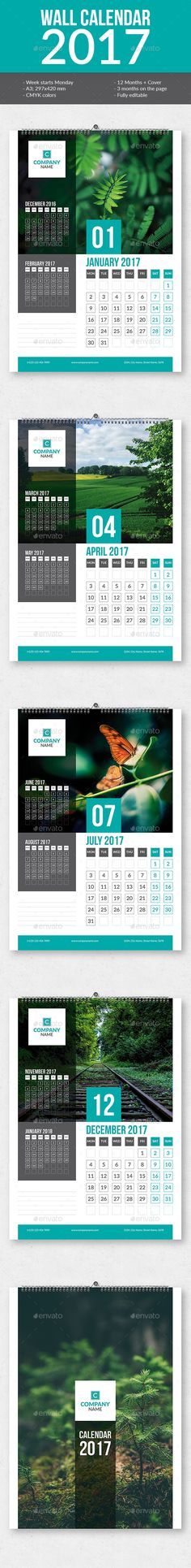 Wall Calendar Template V  Calendar Templates Template And