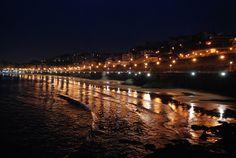 Biarritz, France at night